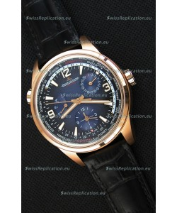 Jaeger-LeCoultre Polaris Geographic Pink Gold Swiss Replica Watch - 904847J