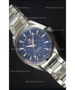 Omega Seamaster COAX GMT Stainless Steel Swiss Watch in Blue Dial