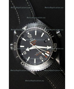 Omega Seamaster Planet Ocean Deep Black GMT 45.5MM 1:1 Mirror Replica Watch