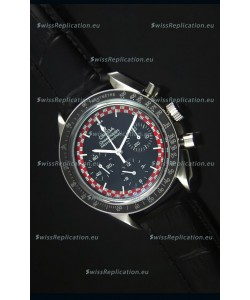 Omega Speedmaster Tintin Moon Swiss Replica Watch with Leather Strap