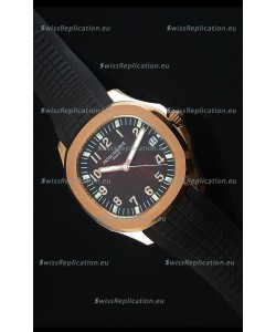 Patek Philippe Aquanaut Jumbo Rose Gold 1:1 Mirror Replica Watch - Wine Colored Dial