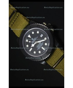 Rolex Submariner Stealth MK IV PVD Swiss Replica Watch White Hour Markers