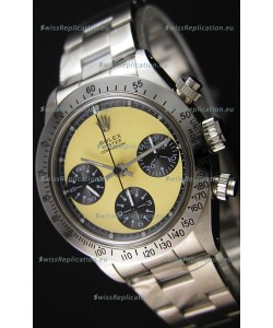 Rolex Daytona Vintage REF 6264 Off-White Dial Swiss Replica Watch - 904L Steel Watch