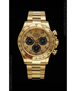 Rolex Daytona 116508 Yellow Gold Original Cal.4130 Movement - 1:1 Mirror 904L Steel Watch