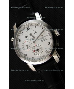 Vacheron Constantin Malte Dual Time Regulator Steel Swiss Replica Watch