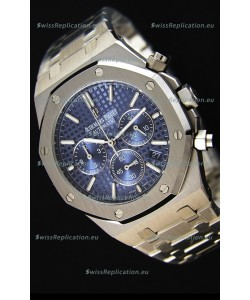 Audemars Piguet Royal Oak Chronograph Blue Dial Swiss Quartz Replica Watch - 41MM