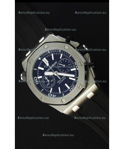 Audemars Piguet Royal Oak Offshore Diver Chronograph Swiss Quartz Replica Watch in Black Dial