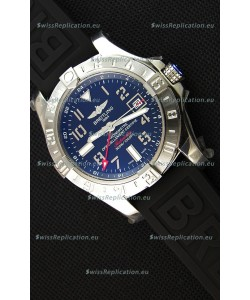 Breitling Avenger II GMT Swiss Replica Watch in Black Dial 1:1 Mirror Replica Version