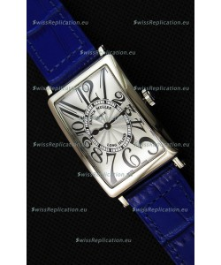 Franck Muller Long Island Ladies Replica Watch in Swiss Quartz Movement Blue Strap