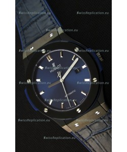 Hublot Classic Fusion Ceramic Blue Swiss Replica Watch - 1:1 Mirror Replica