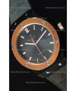 Hublot Classic Fusion Ceramic King Gold Grey Dial Swiss Replica Watch - 1:1 Mirror Replica