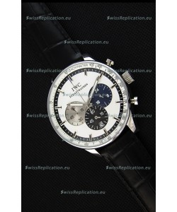 IWC Schaffhausen Japanese Replica Watch Quartz Movement in White Dial