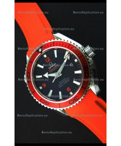 Omega Seamaster Planet Ocean Swiss Orange Strap Replica 45MM 1:1 Ultimate Edition Watch