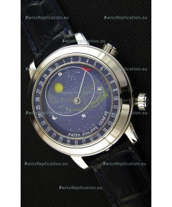 Patek Philippe Grand Complication 6102P Celestial Moon Age Blue Dial Swiss Replica Watch