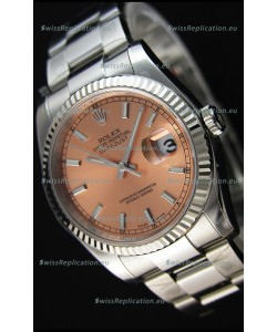 Rolex Datejust 36MM Cal.3135 Movement Swiss Replica Champange Dial Oyster Strap - Ultimate 904L Steel Watch