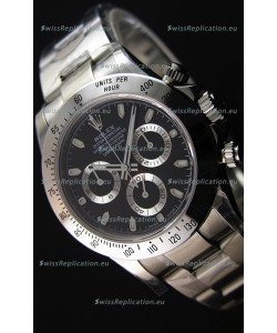 Rolex Cosmograph Daytona 116520 Black Dial Original Cal.4130 Movement - Ultimate 904L Steel Watch