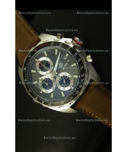 Tag Heuer Calibre 16 Stainless Steel Watch in Grey Dial