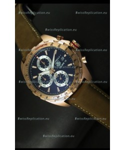 Tag Heuer Calibre 16 Rose Gold Watch in Black Dial Watch