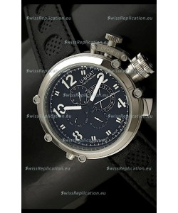 U-Boat Flightdeck Rattrapante Japanese Automatic Watch in Steel Casing