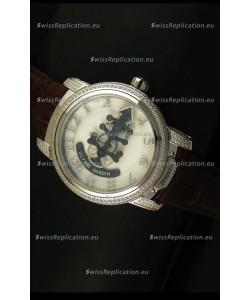 Ulysse Nardin Dual Escapement Japanese Watch in White Dial