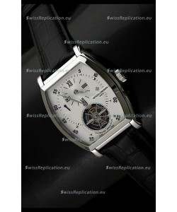 Vacheron Constantin Power Reserve Tourbillon Swiss Watch in Steel