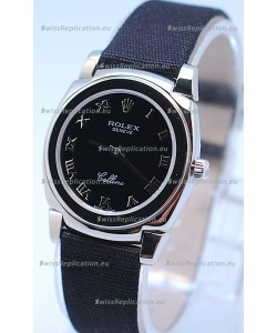 Rolex Cellini Cestello Ladies Swiss Black Watch in Roman Markers