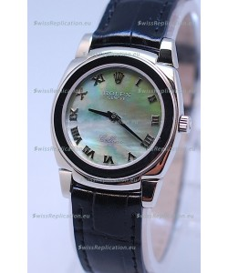Rolex Cellini Cestello Ladies Swiss Watch in Green Pearl Face