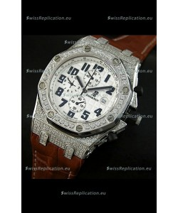 Audemars Piguet Royal Oak Offshore Quartz Watch with Diamonds Bezel