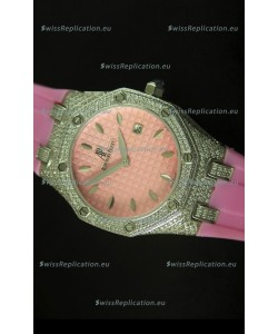 Audemars Piguet Royal Oak Ladies Watch in Pink