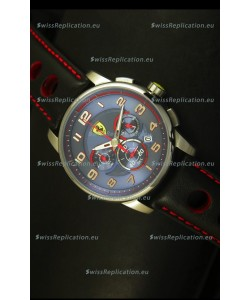 Scuderia Ferrari Heritage Chronograph Watch in Blue Dial