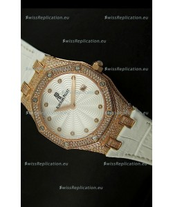 Audemars Piguet Royal Oak LADY Replica Watch in Pink Gold Casing