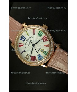 Franck Muller Master of Complications Liberty Japanese Watch in Pink Strap