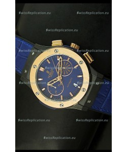 Hublot Classic Fusion Chrono Japanese Quartz Replica Watch in Blue Dial