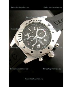 Mont Blanc Star Japanese Watch in Black Dial