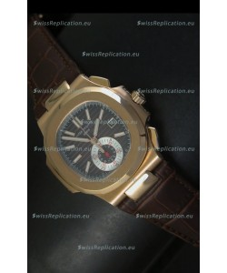 Patek Philippe Nautilus 5980 Black Dial - 1:1 Ultimate Mirror Replica