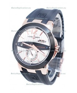 Ulysse Nardin Executive Dual Time Japanese Replica Rose Gold Watch