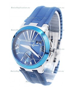 Ulysse Nardin Executive Dual Time Blue Lady's Watch