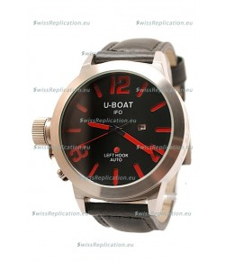 U-Boat Classico Japanese Replica Watch in Red Markers