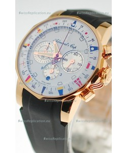 Corum Admirals Cup Chronograph Swiss Replica Gold Watch