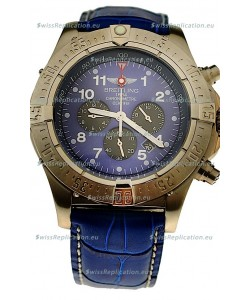 Breitling Chronograph Chronometre Japanese Watch in Blue