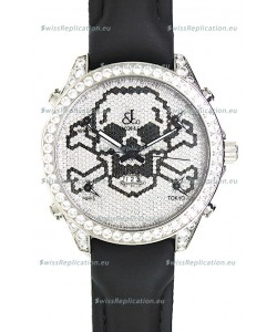 Jacob & Co. The Five Time Zone Skeleton Swiss Replica Watch in Diamonds