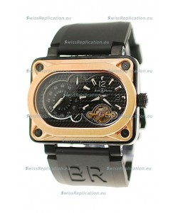 Bell and Ross BR Minuteur Tourbillon Japanese Replica Gold Watch