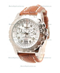 Breitling Chronograph Chronometre Replica Watch in Brown Strap
