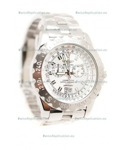 Breitling Chronograph Chronometre Replica Watch in White Dial