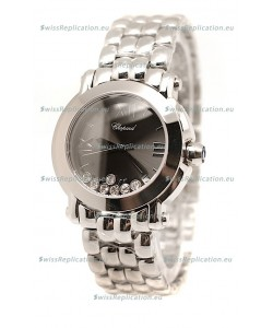 Chopard Happy Sport Swiss Ladies Steel Watch in Black Dial