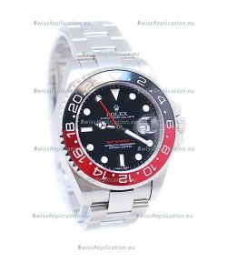 Rolex GMT Masters II 2011 Edition Swiss Replica Watch in Black & Red Cerarmic Bezel