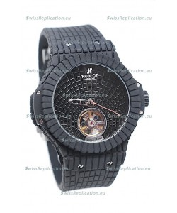 Hublot Black Caviar Tourbillon Japanese Replica Watch