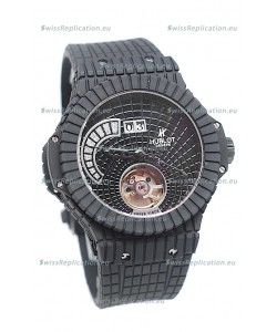 Hublot Black Caviar Tourbillon Power Reserve Japanese Replica Watch