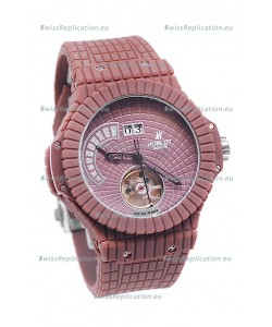 Hublot Red Caviar Tourbilllon Japanese Replica Watch