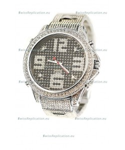 Jacob & Co Diamond Japanese Replica Watch in Big Arabic Markers